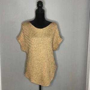 Lauren by Ralph Lauren Gold Woven Sweater
